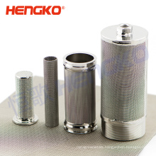 Customized 10 micron sintered porous metal stainless steel cylinder mesh filter cartridge for oil water filtration