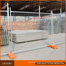 Paneles de malla de valla temporal para sitios de construcción de alto zinc