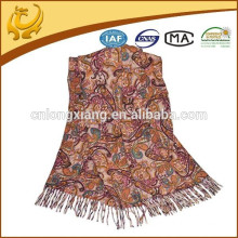 Own Factory Manufacturing Jacquard Style 100% Wool Lady Shawl Latest Stole