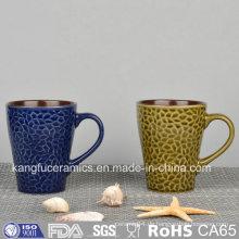 Spezielle Form Farbe Glasierte Keramik Becher