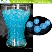 Perles de cristal bleu paillettes de sol