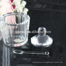 Хрустальный кувшин ,Хрустальный ледяной крем горшок с ложкой,кристалл Снэк банок