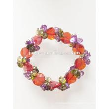 Fashion Bling coloré élastique zircon perlé Bracelet