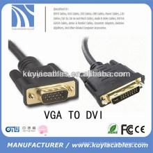 Высокоскоростной VGA SVGA К DVI DVI-I Удлинительный кабель Мужской к Мужской Черный