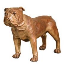 Escultura de animais de tamanho de vida de alta qualidade Bronze Bulldog Estátua