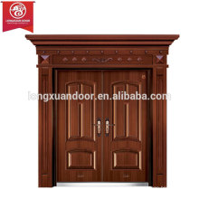 Factory Custom Exterior Doors, Double Swing Copper Fire Door, Quality Bronze Door