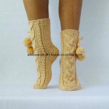 Фабрика Пользовательские руки вязать зимние туфли носки тапочки