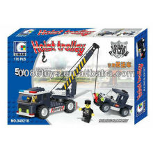 HW TOYS 170pcs enlighten bricks truck police car toy Construction building Block set