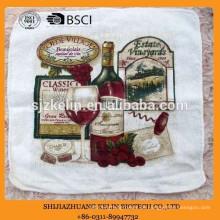 Großhandel alibaba personalisierte Frottee Baumwolle Siebdruck Geschirrtuch
