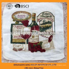 wholesale alibaba personalized terry cloth cotton screen printed tea towel