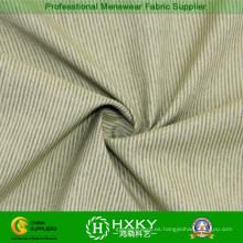 Poliéster y tela de algodón con patrón de rayas para la camisa