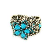 Nouveau design fleurs résine bracelets et bracelets strass Bangles BA26