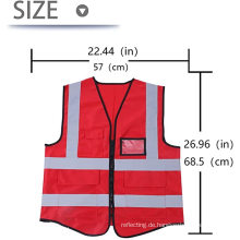 Reflektierende Sicherheitsjacke für den Außenbereich