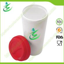 16 Oz en gros BPA sans tasse de café avec couvercle
