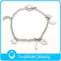 TKB-B0016 2015 fashion bracelet,Lovely silver stylish jewelry 316L stainless steel bracelet valentine day gift for girlfriend