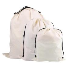 Wholesale high quality eco-friendly fashion custom logo printed canvas drawstring bag