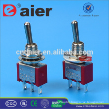 Daier mini toggle switch 3a 250vac off on on toggle switch