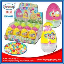 Ostern Jump Chicken Egg Beleuchtung Spielzeug mit Süßigkeiten