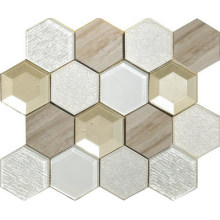 Mocha warna hexagon 3D 3 warna