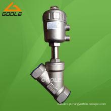 Válvula de assento roscada pneumática com padrão em Y em aço inoxidável (GAYASV)