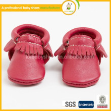 Hersteller 2015 Großhandel gut verkaufen bequeme Leder weiche Sohle Baby Mokassins