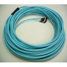 Günstigste 8cores / 12cores / 24cores Om3 Multi-Mode Fiber Optical MPO Patchkabel