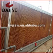 Almofada de resfriamento evaporativo em favo de mel / cortina molhada para fazenda avícola