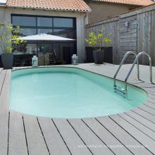 Suelo laminado impermeable de la cubierta wpc de la piscina
