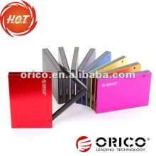 """ORICO 2595SUS3 Boîtier HDD externe SATA à USB3.0 et e-SATA de 2.5 """", boîtier en alliage d'aluminium"""