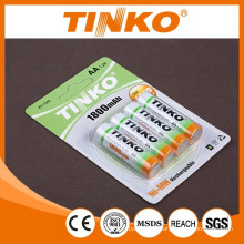 NI-MH rechargeable battery AA 1300MAH with SGS MSDS certification