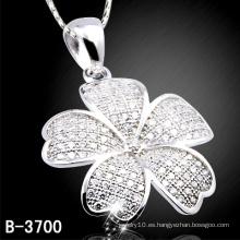 Colgante de flor de plata esterlina de la manera 925 con barato (B-3700)