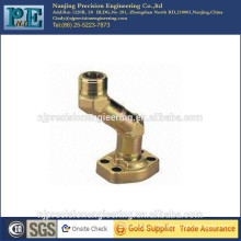 Gold plating steel flange mounting elbow joint pipe