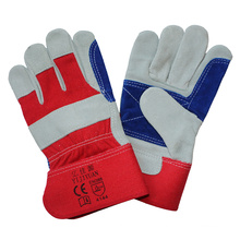 Cow Split Leather Anti Cutting Work Gloves with Double Palm