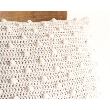 Housse de coussin en crochet simple super favorable
