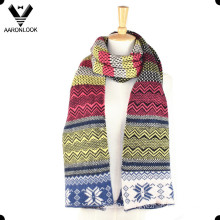 Fashion Winter Colorful Jacquard Multi-Pattern Scarf