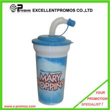 Copo de palha de plástico reutilizáveis para crianças (EP-C7168)