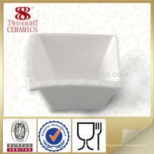 Hôtel chinaware sauce carré blanc bol vente chaude pour le restaurant