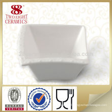Hotel chinaware sauce square white bowl hot sale for restaurant