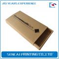 Caixa de presente transparente dura de empacotamento personalizada de Kraft do preto de Brown para a caixa do telefone