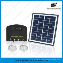 Système solaire de panneau solaire de 4W avec le chargeur de téléphone portable de 2 lumières