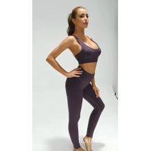 Couleur unie Respirant Femmes Fitness Sports Yoga Suit