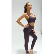 Couleur unie Respirant Femmes Fitness Sports Yoga Suit