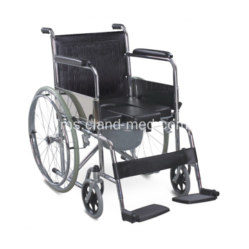 Pemandian Commode Folding Medical Chair Dengan Wheels