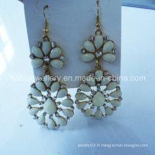 Bijoux de mode / boucle d'oreille en pierre de mode colorée / boucle d'oreille de crochet de mode (NPE1007)