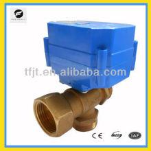 Robinet à tournant sphérique motorisé de 3 manières pour le projet de waterworking, eau domestique / potable, système d'irrigation