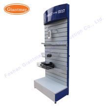 for hanging hardware tool shop exhibition metal slatwall floor display stand shelf