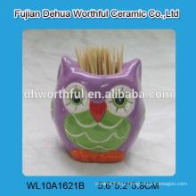 Titular de palito de cerâmica de qualidade superior com design de coruja bonito