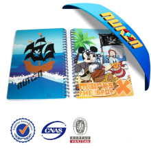 Plastic Printed Spiral 3D Notebook Cover