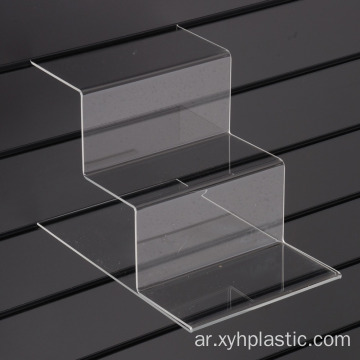 Tiered Acrylic Shoe Shelf for Slatwall