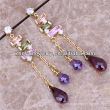 Mode vergoldet Ohrringe Kronleuchter Ohrringe Großhandel indischen Schmuck